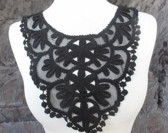 Cute embroidered  applique  black  color 1 pieces listing