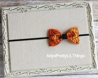 Halloween Headband Spider Headband Spider Web Bow Headbands Orange Headband Skinny Headbands Baby Girls Hair Accessories
