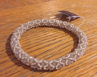 Crystal Bangle Bracelet with crystal and copper swarovski crystals