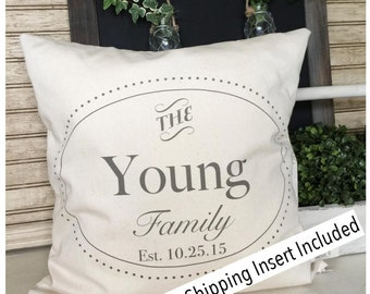 Housewarming Gift | Family Pillow | Family Name Gifts | Personalized Family Pillow - Insert Included