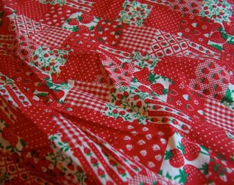 charming strawberry theme fabric