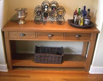 Handcrafted Buffett Table