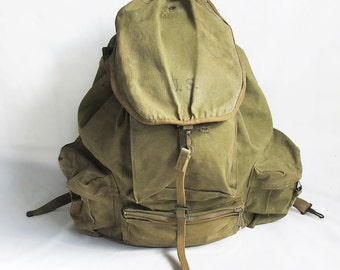 World War Two U.S. Army Mountain Division Rucksack, Backpack, 1941 Model