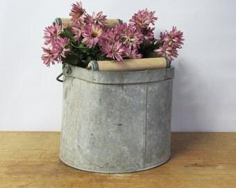Mid Century DeLuxe Galvanized Mop Bucket