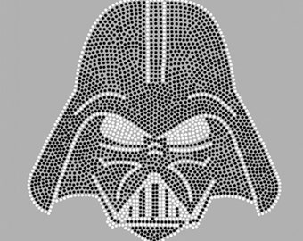 Darth Vader StarWars Rhinestone Hot Fix Motif Iron On Transfer Lead Free for Boy Birthday Party Superhero Party