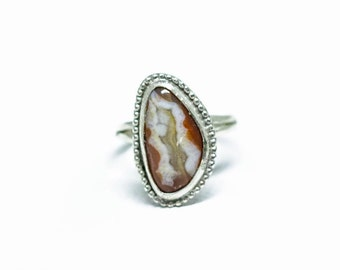 Lake Superior Agate Ring in Sterling Silver Size 7