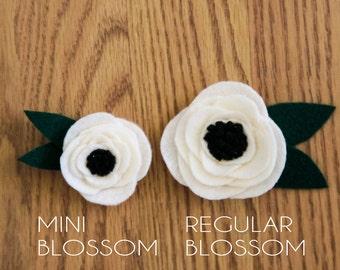 Mini Felt Blossoms
