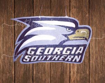 Georgia Southern Eagles logo burlap door hanger