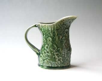 Green Pitcher with Australian Flannel Flowers