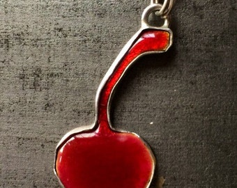 Enamel Cherry Pendant