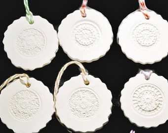 Ceramic Gift Tag or Ornament No8