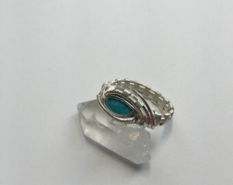 Size 7 Silver & Turquoise Ring