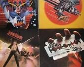 Vintage Judas Priest LP Lot of 4 Vinyl Record Albums 80s Metal Hard Rock
