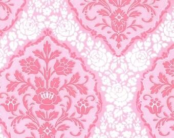 Michael Miller Tweet La Vie Pink Jessamina Damask fabric - 1 yard