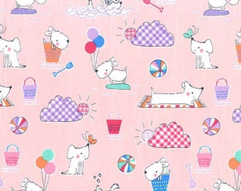 Michael Miller Doggie Day Doggie Day Afternoon Blossom fabric - 1 yard