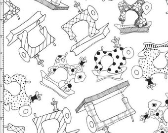 Loralie Designs Sew Essential White fabric - 1 yard