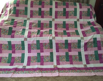 Bright Hope Quilt Top 85 x 108, Backing and Binding. Free Shipping for Mothers Day!