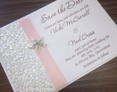 Coastal beach destination wedding invitation save the date card - SAMPLE - save the date card