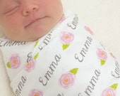 Personalized Name Swaddle - Roses