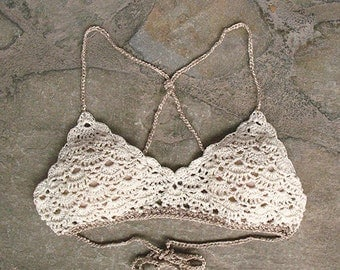Crochet top, Lace bra, Crochet bikini top, Vintage Crochet bralette, Lace Crochet Bra, Bridal Bra, crochet crop top, crochet festival top