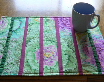 Spring Green Striped Placemats