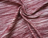 Burgundy Space Dyed Brushed Poly Spandex Knit, 1 Yard
