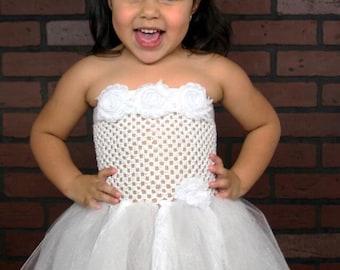 Shabby and lace tutu dress, girls tutu, toddler tutu, pageant tutu, flower girl dress, tulle tutu, flower girl dress tulle, girl clothing