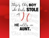 Baseball SVG, There's This Boy SVG, Baseball Heart Design, Boy that Stole My Heart Design, Baseball Aunt, Baseball Heart Svg