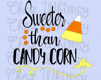 Sweeter Than Candy Corn SVG, Candy Corn SVG, Candycorn Svg, Halloween Svg, Candy Corn Design, Arrow Svg, Fall Svg Design