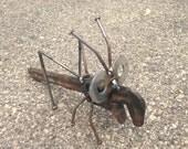 Pipe Wrench Grasshopper Recycled Garden Yard Art