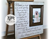 Mother of the Bride Gift, Mother of the Bride Frame, Parents Wedding Gift, Wedding Picture Frame, Parents Thank You, Mama's Song, 16x16