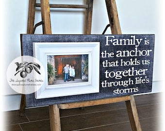 Picture Frame, Sympathy Gift, Personalized Picture Frame, Family Picture Frame, Gifts for Grieving, 8x20The Sugared Plums Frames