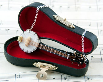 Banjo Necklace - Banjo Player Gift - Banjo Jewellery