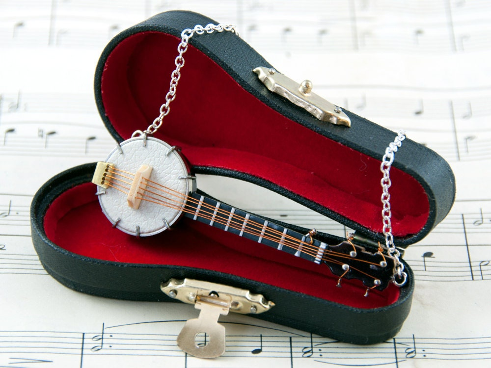 Banjo Necklace - Banjo Player Gift - Banjo Jewellery