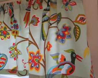 SALE NEW Window Curtain-Valance 50 x 15 BIRDS