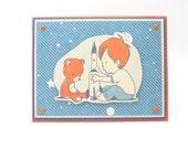 Boy's Happy Birthday Greeting Card, Boy's Astronaut Birthday Card, Outer Space Birthday Card, Rocket Ship Card for Little Boy, Handmade Card