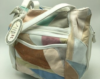 Vintage ADR Patchwork Leather Purse NOS 1994