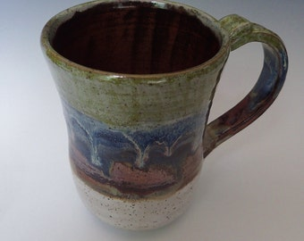 Handmade Stoneware Extra Large XL Coffee Mug PINT Plus BEER Mug Stein