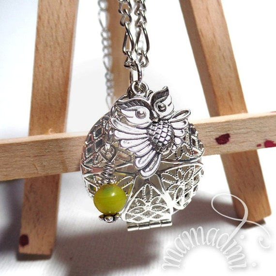Essential Oil Diffuser Locket - Owl