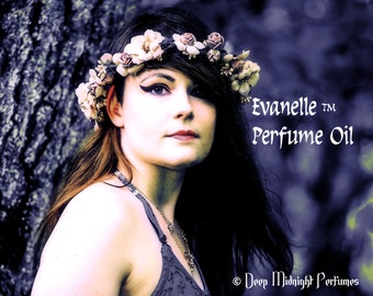 EVANELLE™ Perfume Oil - Chrysanthemums, Summer Dew, Cherry Blossoms, Vanilla, White Musk - Realms of the Fae Folk™ Perfume Series