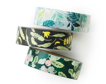 Washi tape 3 set -apple banana - apple farm- banana-tropical leaf-value pack- DIY-packaging-decorative tape - weddings - Love My Tapes