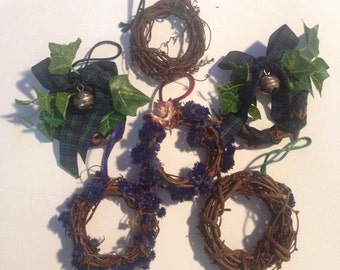 "SIX Beautiful Wrapped Twig Ornaments, Use ""As-Is"" or Create Your Own Lovely Ornaments!"