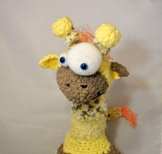 Amigurumi Zoo Animals : Crochet pattern plush goofy giraffe amigurumi zoo