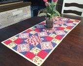 Quilted Table Runner Pattern - Dancing Diamonds - #548