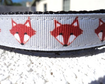 "Sale Dog Collar Foxy 3/4"" or 1"" width Quick Release buckle adjustable -  no martingale - see details for info"