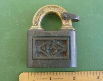 Frain Slaymaker FS Padlock - Vintage / Antique, Large & Heavy USA