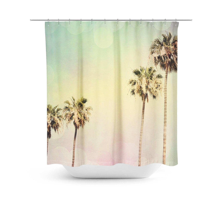 Art Shower Curtain Palm Trees 2 Fine Art Photography Beach