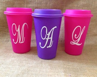 Personalized Plastic To-Go Cup, Barista Coffee Cup