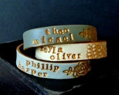 Womens Name stamped Cuff Bracelet, Mothers Day Gift, Personalized Romantic Jewelry, for mom, from dad, nana, auntie, mommy bracelet, Cement