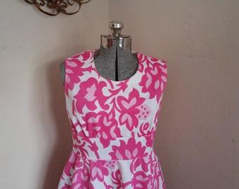 Vintage Floral Pink Dress